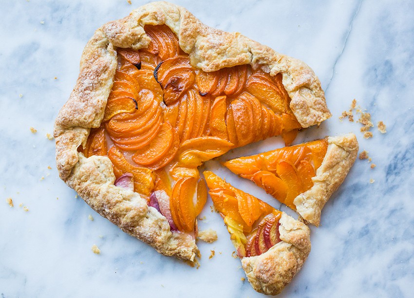 Blueberry Peach Galettes